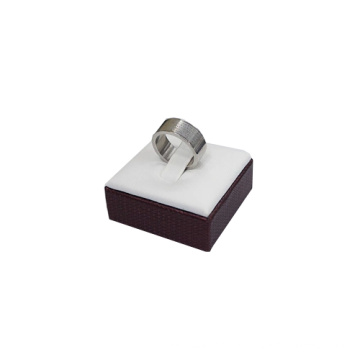 PU Leather White Single Ring Holder Wholesale (RS2)
