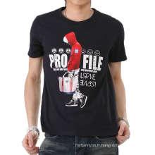 Personnalisé Cool Fashion Design impression Hotsale coton hommes T-shirt