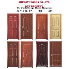 Preço barato de portas de madeira projetadas com MDF