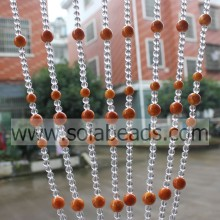 Best Quality for String Curtains With Beads Cold 12MM&16MM&8MM Wire Crystal Acrylic Bead Garland Trim export to South Korea Supplier