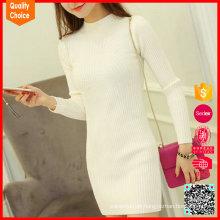 Hochwertige Damen Winter lange Kaschmir Pullover Kleid