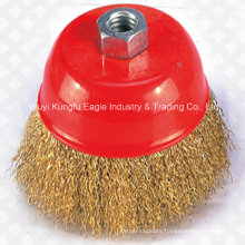 Hot Sales Standard Kexin Crimped Cup Wire Brush with Nut