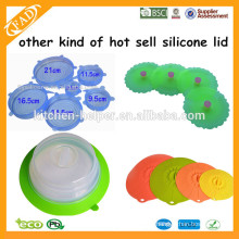 Plate topper Made in China factory food grade silicone plate topper Lid