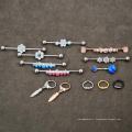 Le cristal articulé d'acier chirurgical de 16G 316L a articulé le Clicker d'anneau de segment