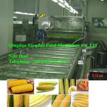 Línea de producción de congelación rápida automática completa de vegetales Escaldado espiral