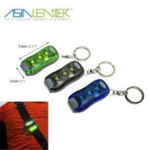 Venda quente 3 SMD led keychain luz com clip de luz de advertência