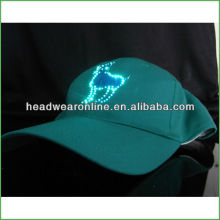 camouflage led cap solar led light cap with 3D embroidery