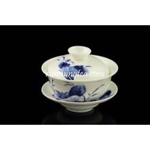 Blue Lotus Bone China Dinner Teetasse Set