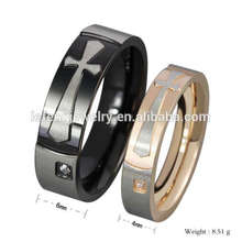 Preço de fábrica barato cruz casal anel, casal anéis para dia dos namorados, anéis de casal fofo