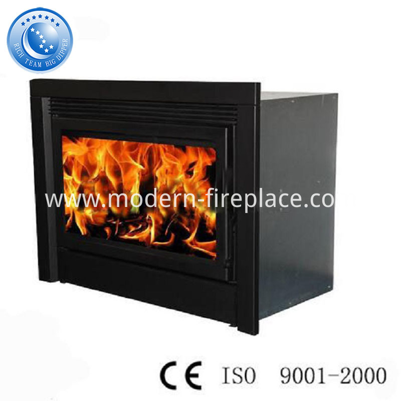 Steel Plate Wood Fireplace Insert With Fan