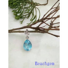 Jewelry-Topaz Sterling Silver Pendant (P0280)