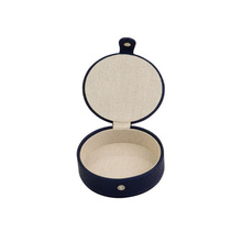 Round Jewelry Box Earrings Packaging With Matel Closure