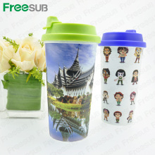 FreeSub 3D Sublimacja Plastic Straight Mug