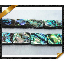 Perlas de la joyería del shell del ábaco, rectángulo plano Perla del ábaco de la joyería natural (APS024)