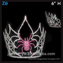 Pink Crystal Halloween Crown, Scary Spider Crown