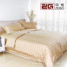 Luxo Cor Diferente Disponível Tecido Stripe Atacado Hotel Bedroom Set