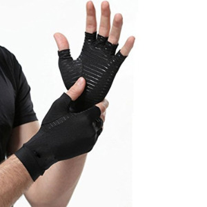 Anti static long sleeve hand-warm protective black gloves