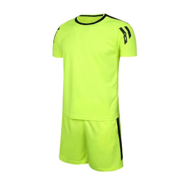 plain new design soccer jersey men training football uniform kit
