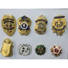 Insignia militar Insignia de seguridad personalizada de la insignia del policía (GZHY-KA-020)
