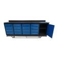 Durable armario de herramientas de 16 cajones con 1 puerta de armario
