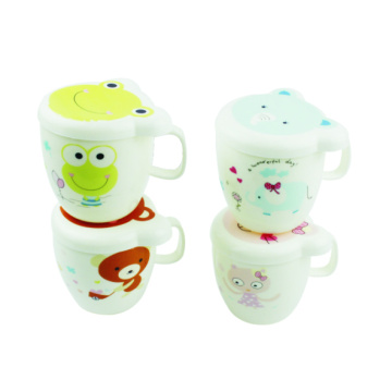Plastic Cartoon Cup Printed With Lid