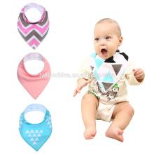 Listras pequenas impressão fancy baby bibs descartável babador serviço personalizado baby bandana baba bibs