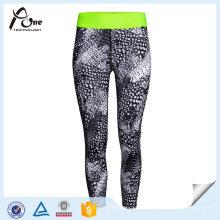 Spandex Fitness Wear Mulheres Sublimação Colorido Yoga Pants