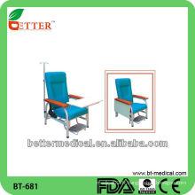 Chaise médicale en acier / chaise médicale pour perfusion