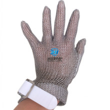 Five finger stainless steel ring mesh gloves