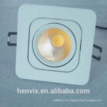 Gimbal rectangular blanco cálido led downlight ce