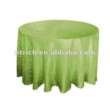 Crinkle nappe taffetas, ceinture de chaise, napperon, chemin de table, serviette, couverture de chaise