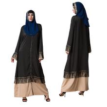 Mode Moyen modèles S-5 XL maxi gland cousu Plus la taille Porter Arabe Femmes Filles robe abaya robe modeste Islamique Vêtements