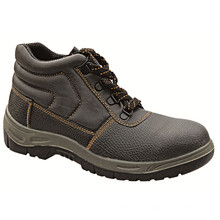 Ufa013 Middle Cut PU Artificial Leather Cheap Groundwork Safety Shoes Boots
