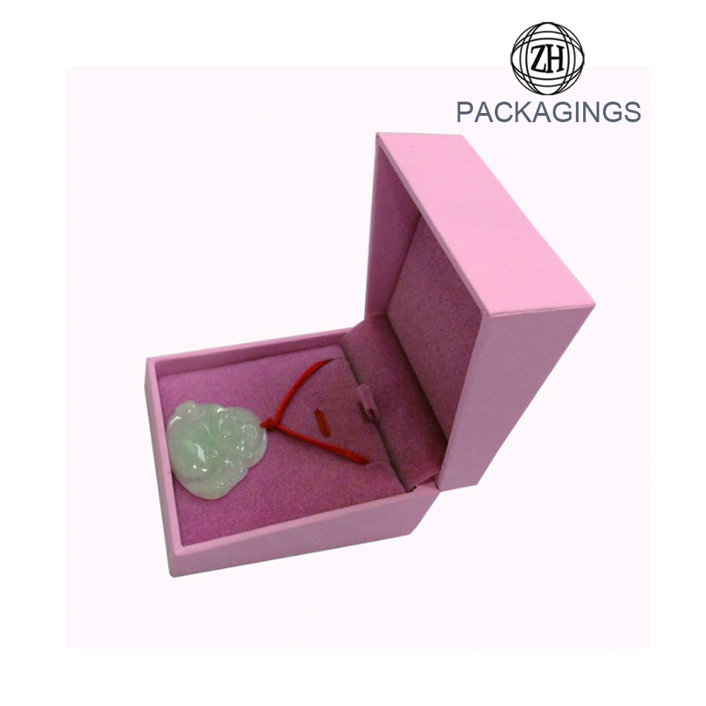 Luxury pink wedding ring box ring box velvet