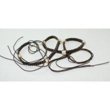 Мода Ручная одежда вощеный шнур плетеные ремни-KL0055
