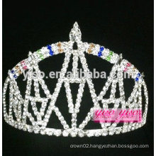 "exquisit 3"" tall rainbow castle design crystal tiara"