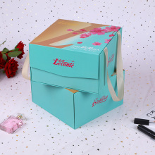 Boîte magnétique de luxe d'emballage cosmétique avec poignée en ruban