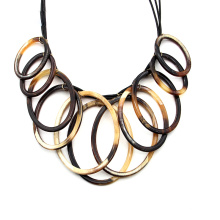 Personality acrylic neck jewelry for party exaggerated big circle statement necklace