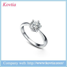 Popular 925 sterling silver wedding ring hearts and arrows zircon diamond wedding rings for bride