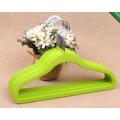 Green стекались детей вешалки бархат вешалки с покрытием вешалки