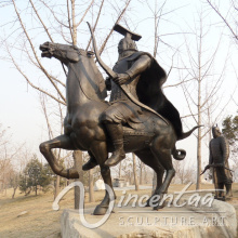 high quality chinese bronze warrior statues