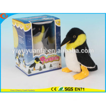 Hot Sell Kids 'Toy Colorful Walking Electric Skip Stuffed Black Penguin