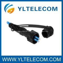 Cable de remiendo óptico fier de FullAXS con fibra insensible de la curva SM del cable de 4.8mm / IP67 / 4G
