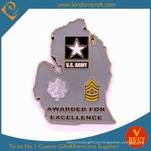 O exército do costume 2D concede moedas do metal da honra personalizada (LN-076)