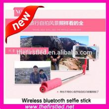 2015 New wireless selfie stick with bluetooth