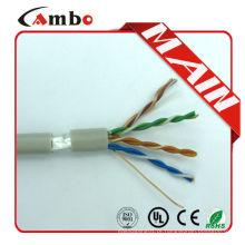 1000ft CMP sólido Azul 24awg cat5e ftp cabo FTP 4x2x24AWG