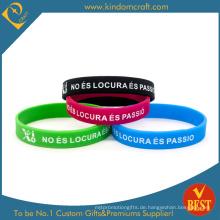 Verkauf Multicolor Logo Silikon Armband & Armband