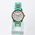 fashion silicone watch stainless steel back waterproof