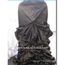 Luxe!!! Housse de chaise de mariage en satin noir 2012, si fascinante, style de mariage