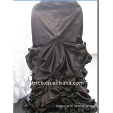 Luxo!!! 2012 casamento preto tampa da cadeira de cetim, tão fascinante, estilo de casamento